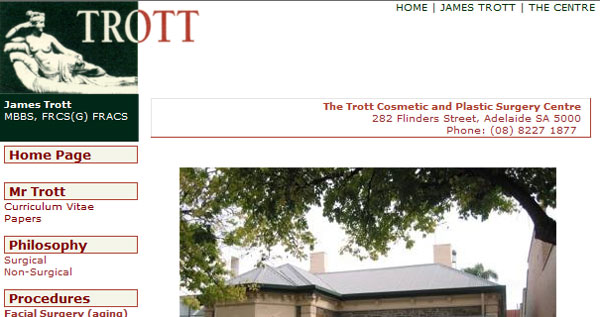 Site snapshot - The Trott Cosmetic & Plastic Surgery Centre
